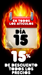 Promo dia 15 - 15%
